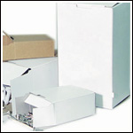White Slot-Lock Hardware Boxes