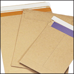Kraft Self-Seal Stay Flat Mailers