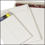 White Self-Seal Stay Flat Mailers