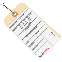 2 part carbonless Inventory Tags wired