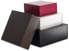 COLLAPSIBLE BOX IN LEATHERETTE