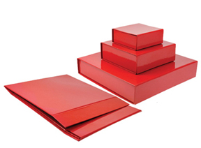 Red Collapsible Magnetic Box