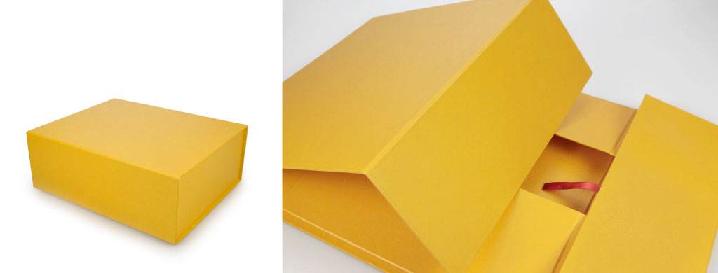 yellow rigid gift box