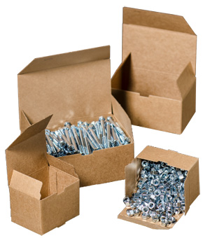 Corrugated Nat-flute hardware boxes