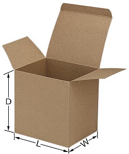 Kraft Reverse Tuck Boxes,folding chipboard box