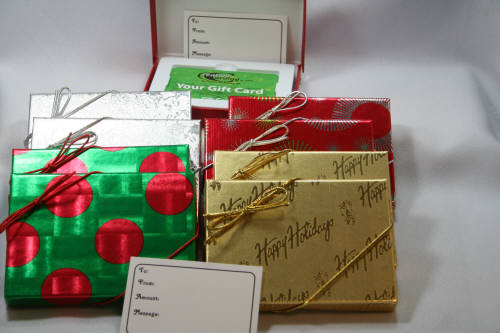 flat christmas gift card box