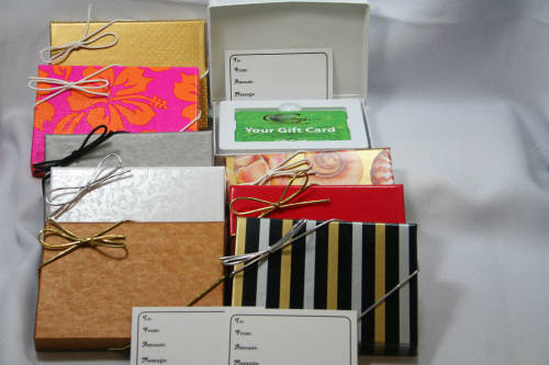 GIFT CARD BOXES, flat holder
