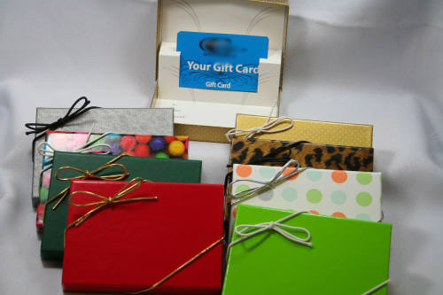 gift card box pop up holder