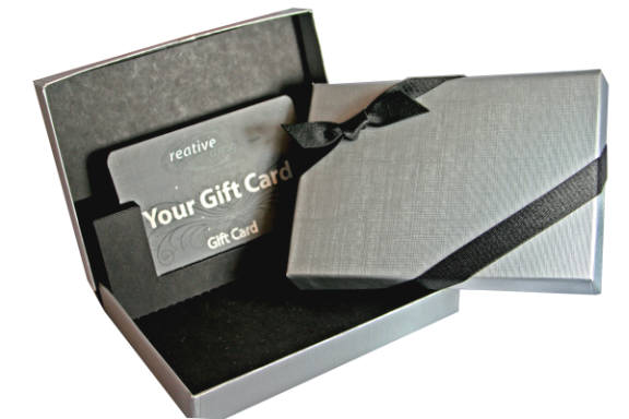 Tuxedo Linen Silver Gift Card Box Gift Card Holders Gift Card