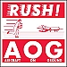 AOG Rush Shipping Labels