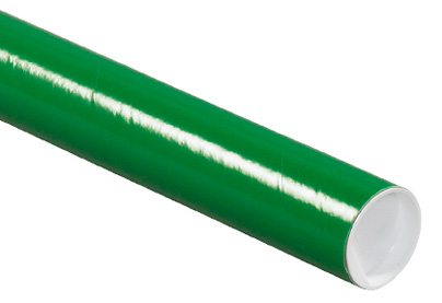 bright green mailing tube