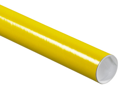 bright yellow mailing tube