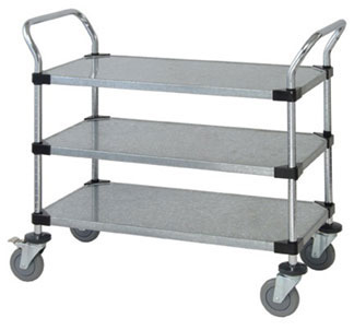 solid shelf cart