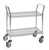 2 shelf chrome wire cart