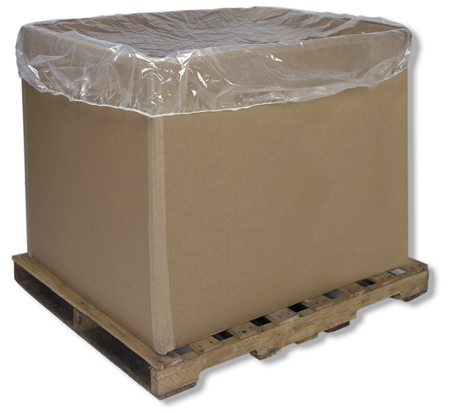 Gaylord box poly cover, bulk bin poly cover
