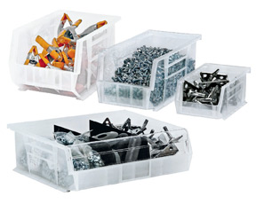 clear view shelf bins