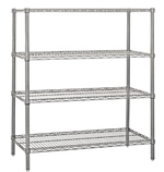 Chrome Wire Shelving<BR>4 Shelf Starter Units