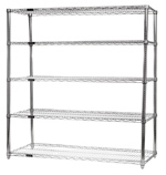 Chrome Wire Shelving<BR>5 Shelf Starter Units