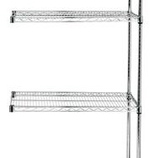 Chrome Wire Shelving<BR>4 Shelf Add-on Units