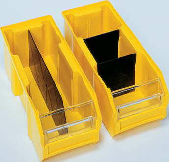 bin with dividers