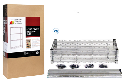 boxed wire shelving unit