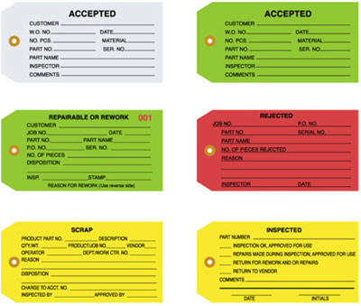 Inspection Tag - plain - QC tags