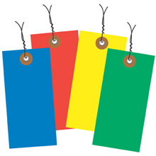 Colored Tyvek Tags - wired