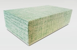 7 x 3 1116 x 2green linen rigid set up boxbusiness card box rigid set up boxes reheart Choice Image