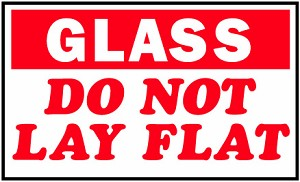 Glass Shipping Label