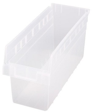 "Clear-View Store-Max 8"" High Bins"