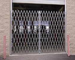 Galvanized Double Folding  Security Gates